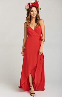 Show Me Your Mumu Mariah Wrap Dress ~ Lady In Red Crisp