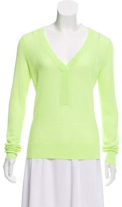 A.L.C. Neon V-Neck Sweater