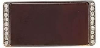 Marni Crystal & Resin Rectangular Brooch