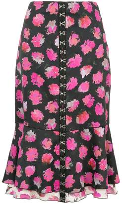 Proenza Schouler floral flared midi skirt