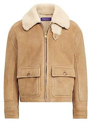 Ralph Lauren Purple Label Men's Beedon Shearling Bomber Jacket
