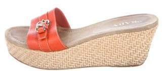 Prada Leather Slide Sandals