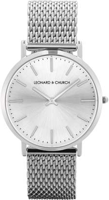 Church's LEONARD AND Leonard & Varick Mesh Strap Watch, 40mm
