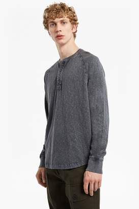 French Connection Garment Dyed Slub Jersey Top