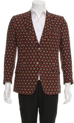 Gucci Lattice Print Silk Blazer w/ Tags