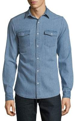 ONLY & SONS Classic Denim Button-Down Shirt