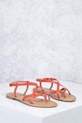 Forever 21 Crisscross Faux Leather Sandals