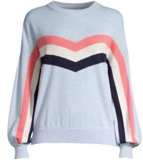 Spiritual Gangster Colorblock Stripe Crewneck Sweater
