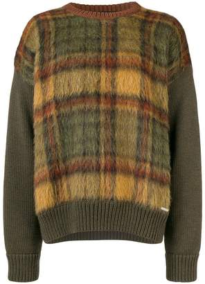 DSQUARED2 checked knit jumper