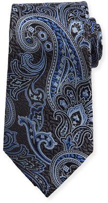 Ermenegildo Zegna Silk Paisley Tie, Navy $195 thestylecure.com