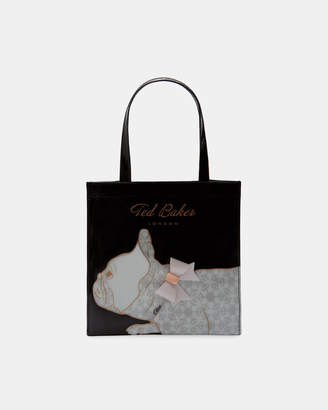 Ted Baker MAYACON Cotton Dog small icon shopper bag
