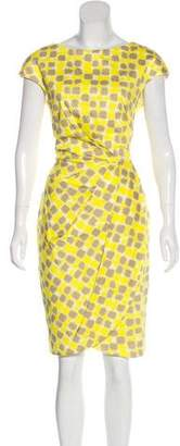 Lela Rose Printed Knee-Length Dress
