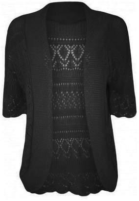 R KON Women's Crochet Knitted Bolero Cardigan Top Shrug US 4XL