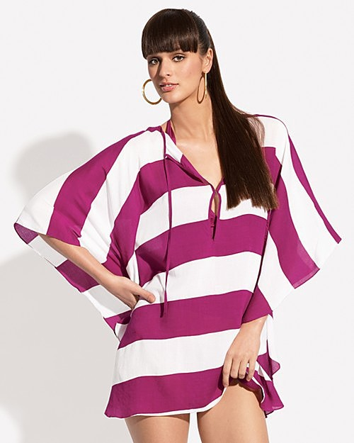 Vix Striped Caftan Cover-Up