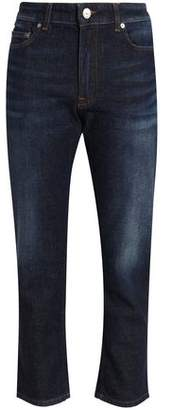 Acne Studios Cropped Faded High-Rise Straight-Leg Jeans