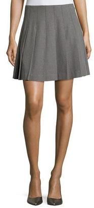 Kate Spade New York Pleated Skirt, Miles Gray Melange $198 thestylecure.com