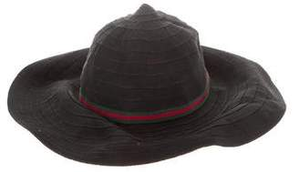Gucci Web-Trimmed Sun Hat