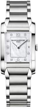 Baume & Mercier Hampton 10050 Diamond, Mother-Of-Pearl& Stainless Steel Bracelet Watch