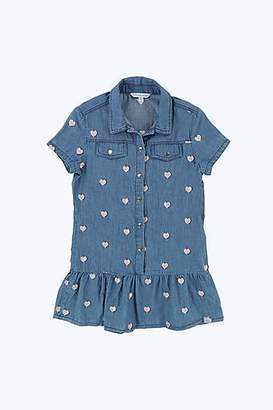 LITTLE MARC Heart Denim Dress