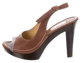 Lanvin Leather Slingback Sandals