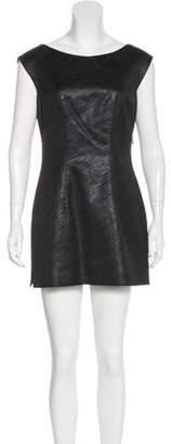 Behnaz Sarafpour Sleeveless Lightweight Tunic Metallic Sleeveless Lightweight Tunic