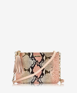 GiGi New York Chelsea Crossbody, Rose Wash Embossed Python