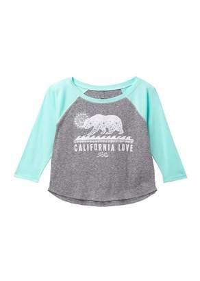 Billabong Sketch Cali Bear Long Sleeve T-Shirt (Little Girls & Big Girls)