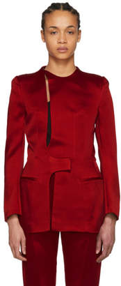 Haider Ackermann Red Open Back Jacket