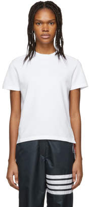 Thom Browne White Pique T-Shirt