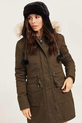 Ardene Faux Fur Lined Hooded Parka