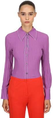 Marni Silk Blend Crepe Shirt W/ Thread Details