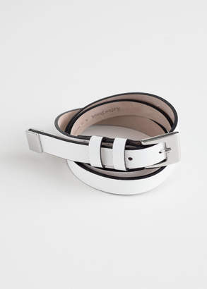 And other stories Double Loop Leather Belt