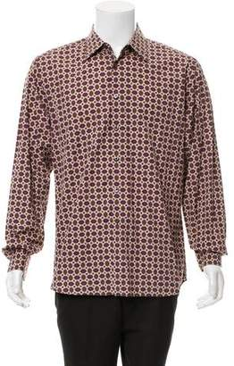 Prada Print Button-Up Shirt