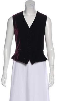 Ralph Lauren Black Label Velvet Button-Up Vest
