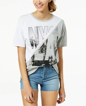 N.Y.L.A. Pretty Rebellious Juniors' Cotton NY/LA Graphic-Print T-Shirt