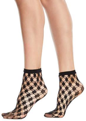 Wolford Athina Geo-Net Ankle Socks