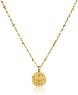 Satya Jewelry Plated Lotus Pendant Necklace