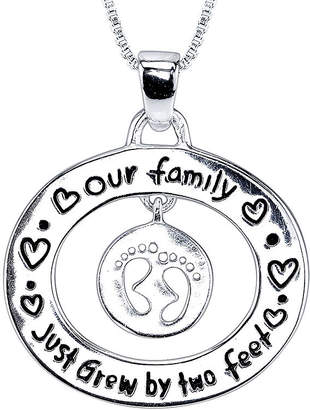 FINE JEWELRY Inspired Moments Sterling Silver Growing Family Pendant