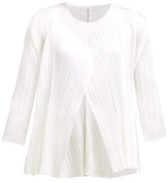 Pleats Please Issey Miyake Technical Pleat Flared Jacket - Womens - White