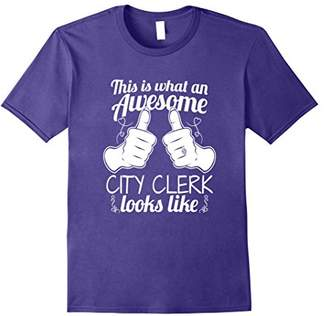 Womens Awesome City Clerk Funny T-Shirt