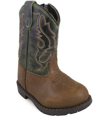 SMOKY MOUNTAIN Smoky Mountain Kid's Hopalong Side Zipper DistressCrackle Leather Cowboy Boot Toddler