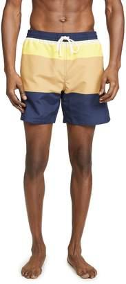 MAISON KITSUNÉ Colorblock Swim Shorts