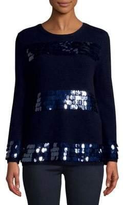 Max Mara Sequin Long-Sleeve Sweater