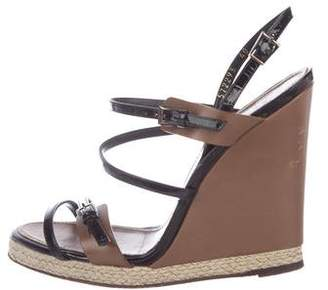 Barbara Bui Patent Leather Espadrille Wedges