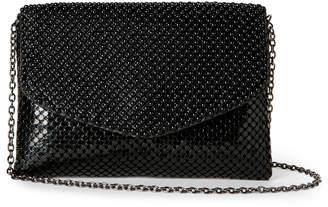 Jessica McClintock Black Brooklyn Mesh Chain Shoulder Bag
