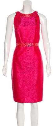 Carmen Marc Valvo Metallic Midi Dress