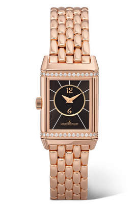 Jaeger-LeCoultre Reverso Classic Duetto Small Rose Gold And Diamond Watch