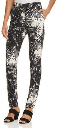 Theory Printed Silk Boyfriend Pants