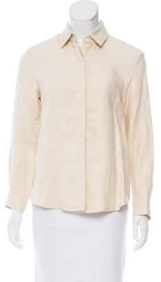 Rosetta Getty Linen Button-Up Top w/ Tags