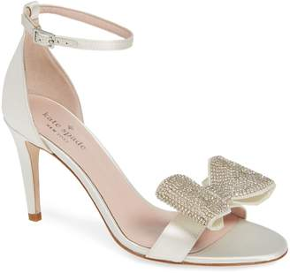 Kate Spade Gweneth Crystal Bow Ankle Strap Sandal